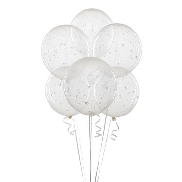 Clear Balloons with Stars