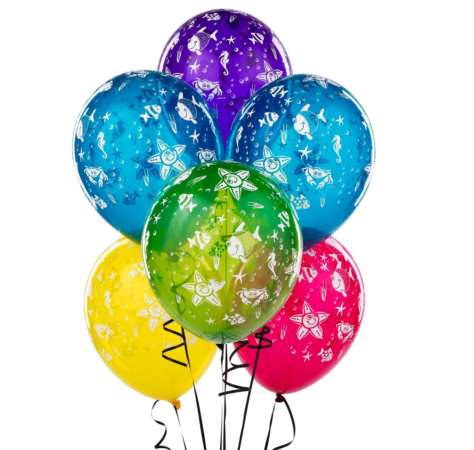 latex fish balloons