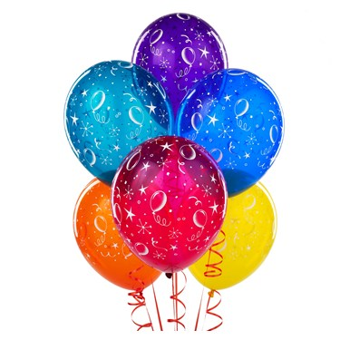 Party Balloons and Streamers Latex Balloons
