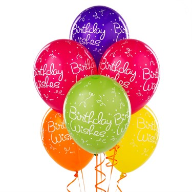 Tropical Birthday Wishes Polka Dots Latex Balloons