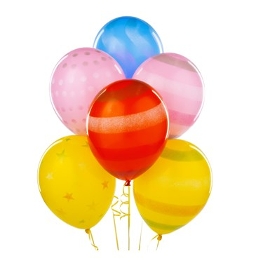 Colored Sprays Latex Balloons