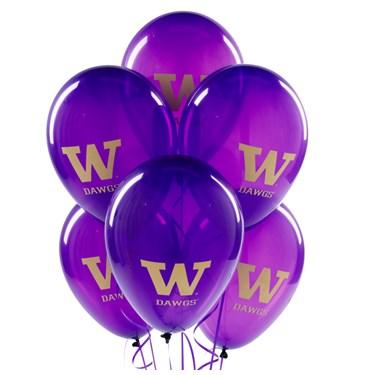 Washington Huskies Latex Balloons