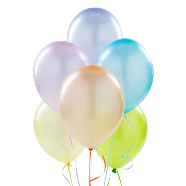 Metallic Rainbow Pastel Latex Balloons