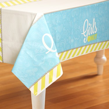 Girls Only Party Plastic Tablecover