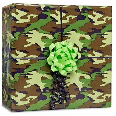 Camouflage Gift Wrap Kit