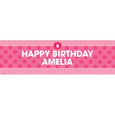 Pink! Personalized Banner