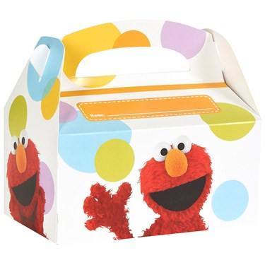 Sesame Street - Elmo Personalized Write-In Empty Favor Boxes (4)