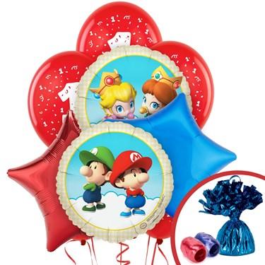 Super Mario Bros. Babies 1st Birthday Balloon Bouquet