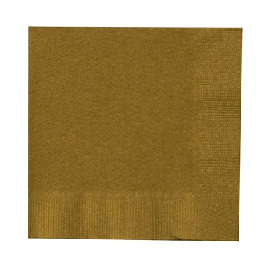 Glittering Gold (Gold) Beverage Napkins