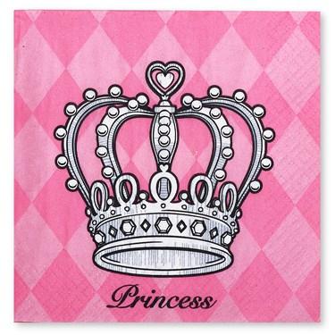 Elegant Princess Damask Beverage Napkins