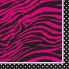 Pink Zebra Boutique Beverage Napkins