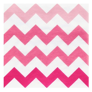 Chevron Pink Beverage Napkins