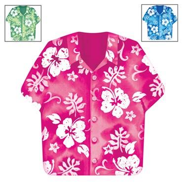 Bahama Breeze Shirt-Shaped Lunch Napkins Assorted