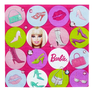 Barbie All Doll'd Up Lunch Napkins