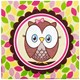 Default Image - Look Whoo's 1 Pink Lunch Napkins