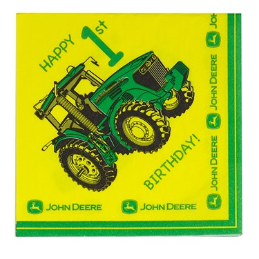 John Deere 1st Birthday Lunch Napkin