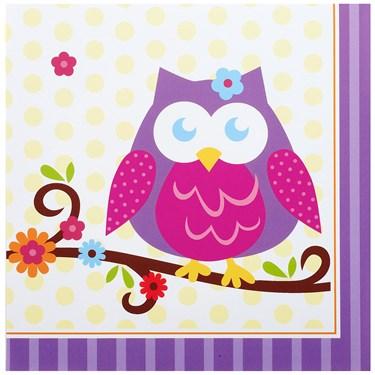 Owl Blossom Lunch Napkins