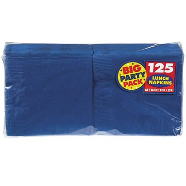 Bright Royal Blue Big Party Pack - Lunch Napkins