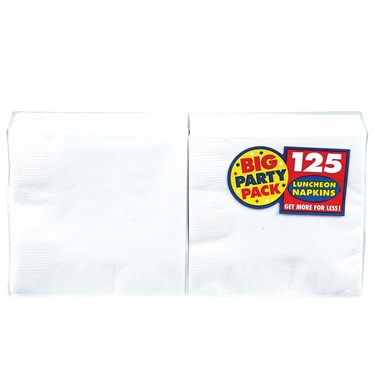 Frosty White Big Party Pack - Lunch Napkins