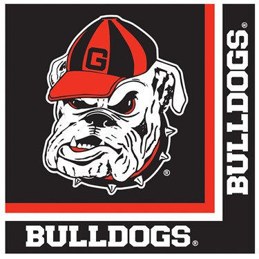 Georgia Bulldogs Lunch Napkins