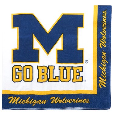 Michigan Wolverines Lunch Napkins