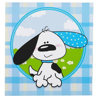 Playful Puppy Blue Lunch Napkins