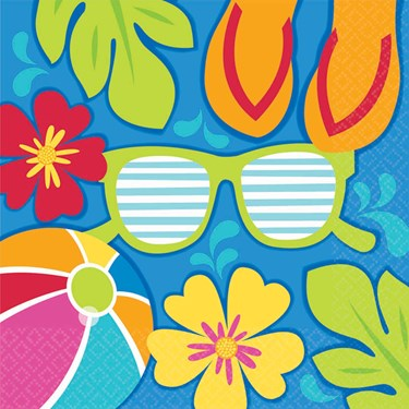 Summer Splash Luau Lunch Napkins