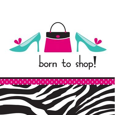 Pink Zebra Boutique Shop Lunch Napkins