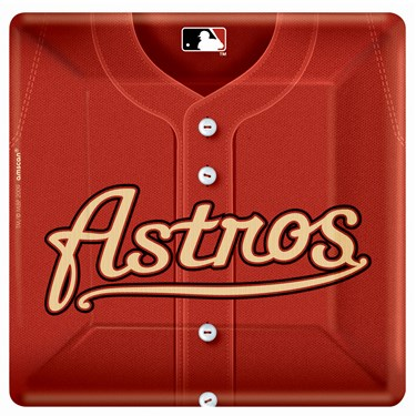 Houston Astro Baseball Square Banquet Dinner Plates