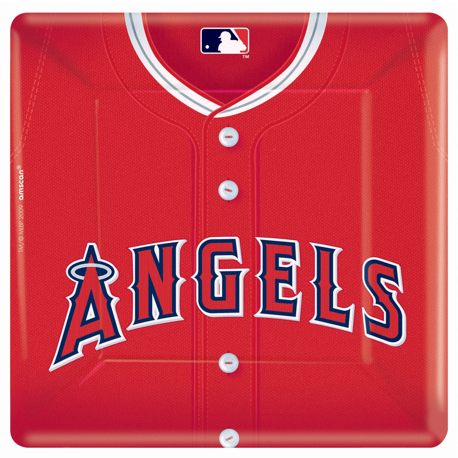 Los Angeles Angels Baseball Square Banquet Dinner Plates