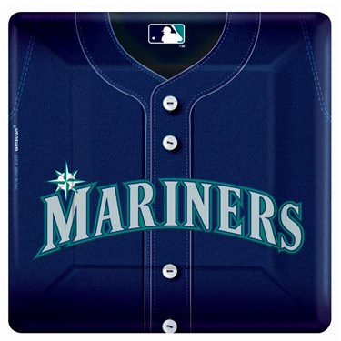 Seattle Mariners Baseball Square Banquet Dinner Plates