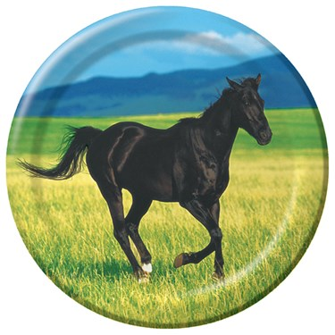 Wild Horses Dessert Plates