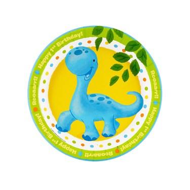 Little Dino 1st Birthday Dessert Plates