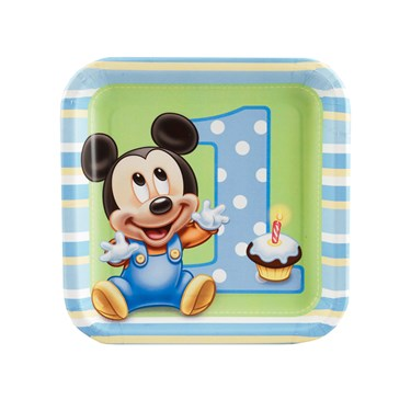 Disney Mickey's 1st Birthday Dessert Plates