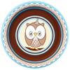 Look Whoo's 1 Blue Dessert Plates