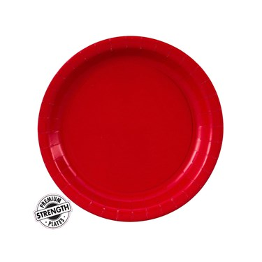 Classic Red (Red) Paper Dessert Plates