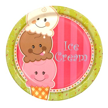 Ice Cream Sprinkles Dessert Plates