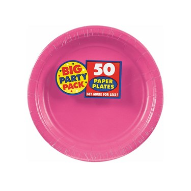 Bright Pink Big Party Pack Dessert Plates