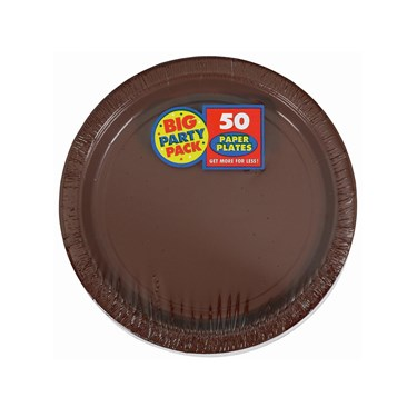 Chocolate Brown Big Party Pack Dessert Plates