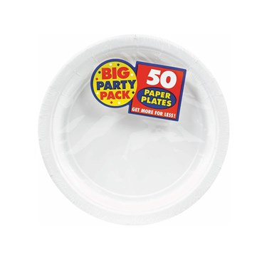 Frosty White Big Party Pack Dessert Plates