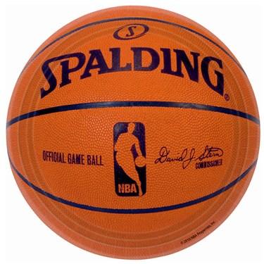 Spalding Basketball Dessert Plates