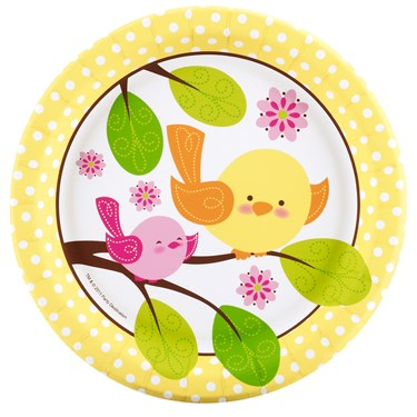 Sweet Tweet Bird Pink Dessert Plates