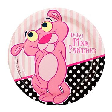 Baby Pink Panther Dessert Plates