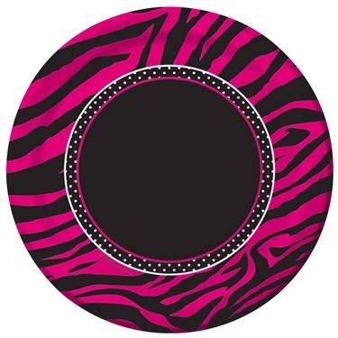 Pink Zebra Boutique Dessert Plates