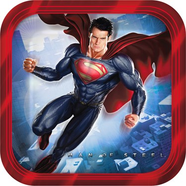 Superman: Man of Steel Square Dessert Plates