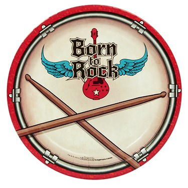 Born to Rock Dessert Plates