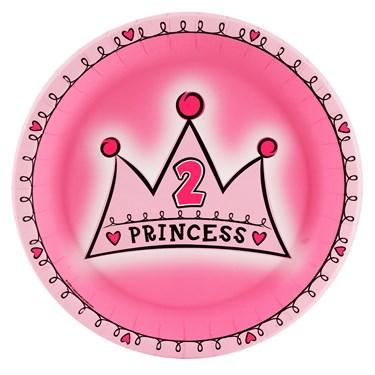 Birthday Princess 2nd Birthday Dinner Plates