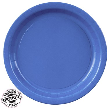 True Blue (Blue) Paper Dinner Plates
