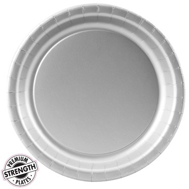 Shimmering Silver (Silver) Paper Dinner Plates