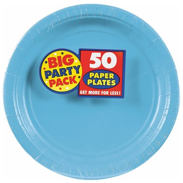 Caribbean Blue Big Party Pack Dinner Plates